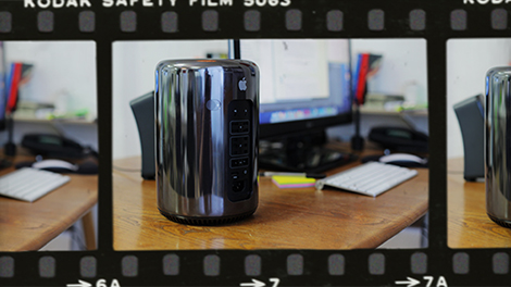 Is it a bin? Is it rolling pin?... No, it's our new Mac Pro!