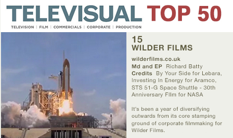 Wilder Up 18 Places In Televisual's Top 50 Survey